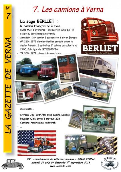 LA GAZETTE DE VERNA 7 (camions)