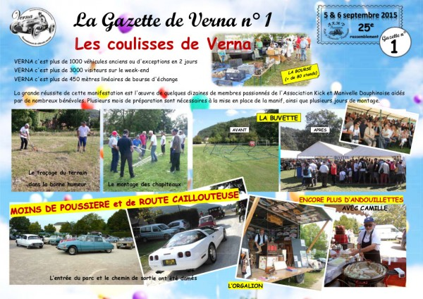 La Gazette de Verna 1 - les coulisses de Verna-1