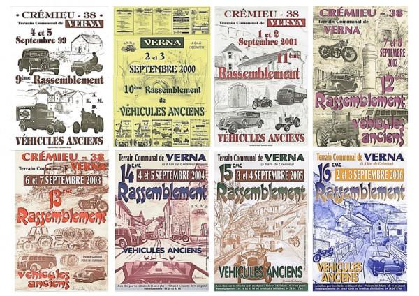 AFFICHES VERNA 1999 à 2006